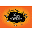 happy halloween text design background vector image vector image