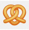 heart pretzel icon cartoon style vector image vector image