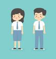 indonesian senior high school uniform kids cartoon vector image vector image