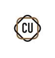 initial letter cu elegance logo design template vector image vector image