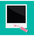 Instant photo and pencil in flat design style Love vector image vector image