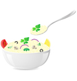 italian rice vector image vector image