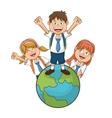 Kids of back to school design vector image vector image