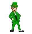 Leprechaun St Patricks Day cartoon character vector image vector image