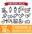 Line icons set 24 vector image vector image