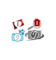 logotype i modern template set vector image vector image