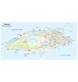 map nassau capital bahamas new providence vector image vector image