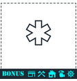 medical icon flat vector image vector image