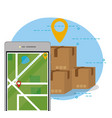 mobile order delivery vector image vector image