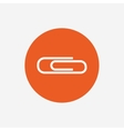 Paper clip sign icon Clip symbol vector image vector image