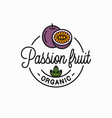 passion fruit logo round linear passion slice vector image