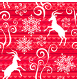 pattern goat year red vector image vector image