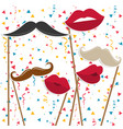 photobooth birthday and party set - glasses hats vector image vector image