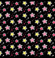 pink yellow stars pattern vector image vector image