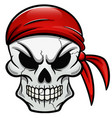 pirate skull isolated design vector image vector image