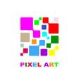 pixel logo design concept vector image vector image