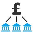 Pound Bank Organization Flat Icon Symbol vector image vector image