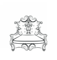Royal Imperial Armchair in Rococo style vector image vector image