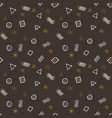 seamless patterns with geometric doodle elements vector image