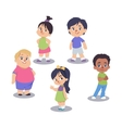 set cute children isolated on white vector image