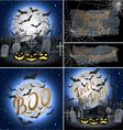 Set of Halloween Backgrounds vector image
