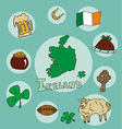set of national profile of the ireland vector image