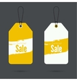 Set price tag with ribbons and labels vector image