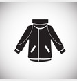 ski jacket on white background vector image