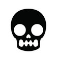 skull pattern in minimalism style vector image vector image