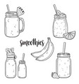 smoothie collection vector image vector image