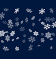snow flakes falling macro graphics vector image