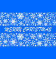 snowflakes seamless pattern set for christmas vector image