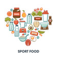 sport and fintess healthy food nutrition vector image