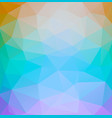 square retro color abstract triangle background vector image vector image