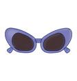 sunglasses purple frame fashion accessory cartoon vector image vector image