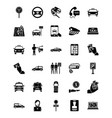 taxi services glyph icons vector image vector image