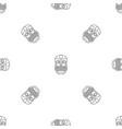 tiki idol face pattern seamless vector image