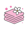 towels with jasmine spa concept icon vector image vector image