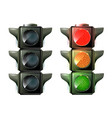 traffic lights isolated on white photo-realistic vector image vector image