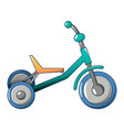 tricycle icon cartoon style vector image
