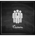 vintage with business team symbol on blackboard vector image vector image