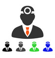 Vision doctor flat icon vector image