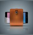 wallet smartphone digital icon gadjet vector image