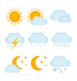 weather forecast metcast signs vector image