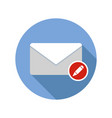 write mail icon email icon with long shadow vector image