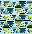green blue yellow tribal pattern abstract vector image