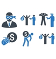 Thief Arrest Flat Icons vector image