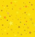 golden stars pattern swatch vector image