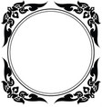 circle frame of thai pattern vector image