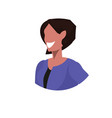 african american businesswoman face avatar smiling vector image